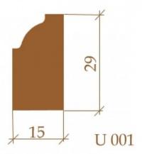 Молдинг Ultrawood U001 под покраску
