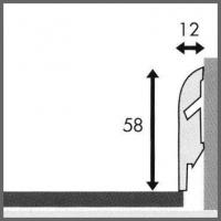 Плинтус Quick-Step SKR стандартный  58  x 12  x 2400 мм.